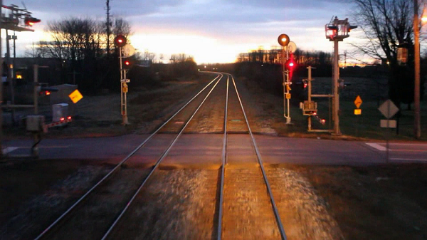 Photo of railway light signals at a crossing